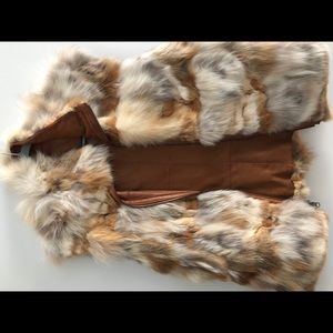 Jackets & Blazers - House of Dereon Reversible Leather/ Fur Vest